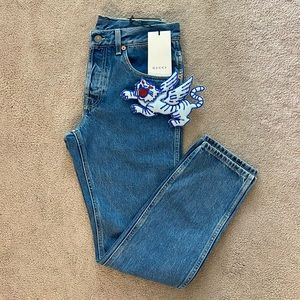 Gucci mid-rise jeans size 25/26.